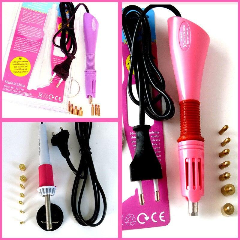 Быстро нагревается! Устройство горячей фиксации для нанесения страз фиолетовый/розовый выбор исправление аппликатор гладить на палочка тепло-fix Tool без стразы