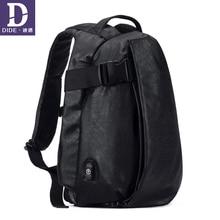 Купить с кэшбэком DIDE 2019 men's backpacks USB charging backpack 15 Inch Laptop Backpack school bag Male travel bags bagpack Waterproof