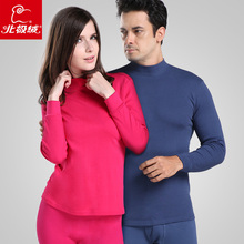 Health cotton turtleneck male women's long johns long johns comfortable 100% cotton thin set thermal underwear