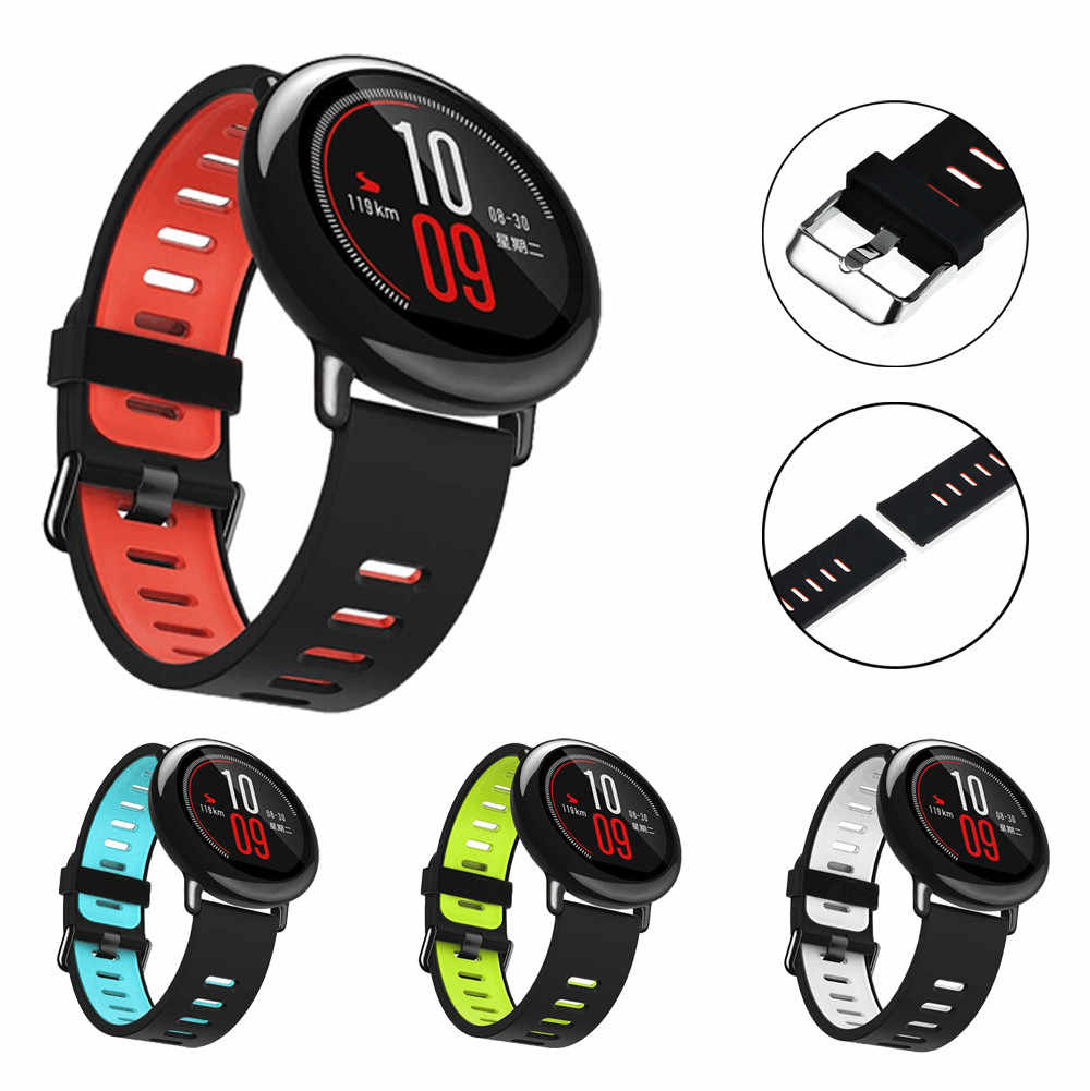 22mm Replacement Silicone Sports Strap Band fitness bracelet For Xiaomi /HUAMI /AMAZFIT Smart Watch relogios free Shipping