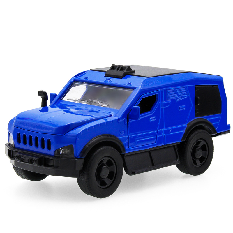 Hot sell 1:32 SUV Knight 15 Jeep Diecast Alloy Metal Luxury armored Car Model Collection Model Pull Back Toys Car Gift For Boy