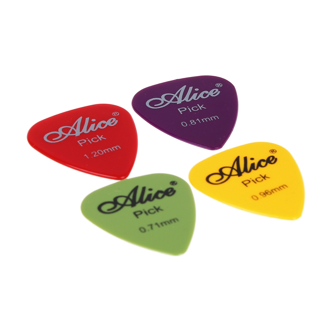 12x Acoustic Electric Guitar Picks Plectrum Assorted Colours 6 Thickness New