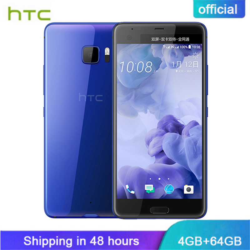 Bande originale Nouvelle HTC U Ultra 4g LTE Mobile Téléphone 4 gb RAM 64 gb ROM Snapdragon 821 5.7 pouces Quad Core Android 7.0 3000 mah NFC
