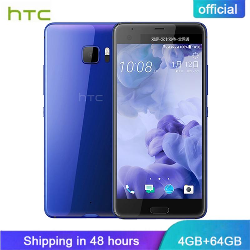 Originale Fascia Nuovo HTC U Ultra 4g LTE Mobile Phone 4 gb di RAM 64 gb ROM Snapdragon 821 5.7 pollici Quad Core Android 7.0 3000 mah NFC