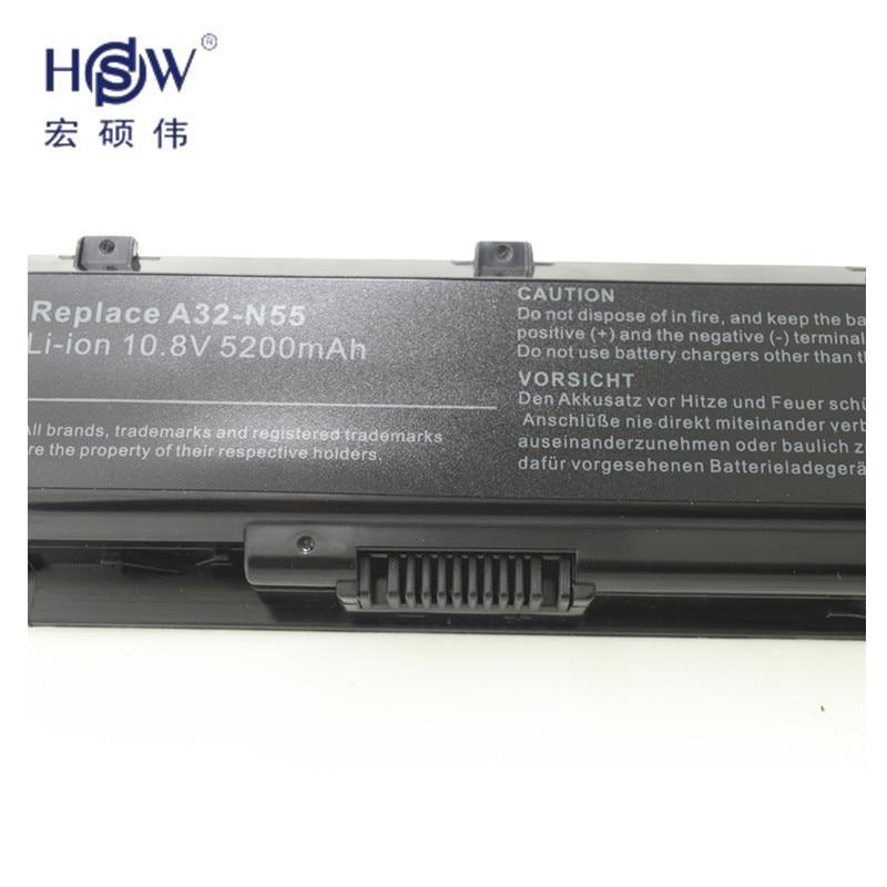 HSW LAPTOP NYHET laptopbatteri A32-N55 07G016 HY1875 för ASUS N45 - Laptop-tillbehör - Foto 4