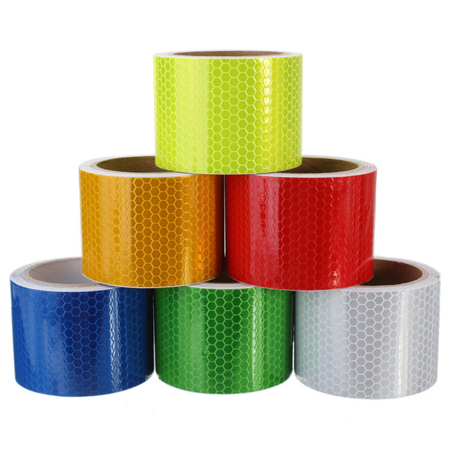 Pure color reflect light safety security caution reflective tape pure color reflect light safety security caution reflective tape warning tape sticker self adhesive tape aloadofball Choice Image