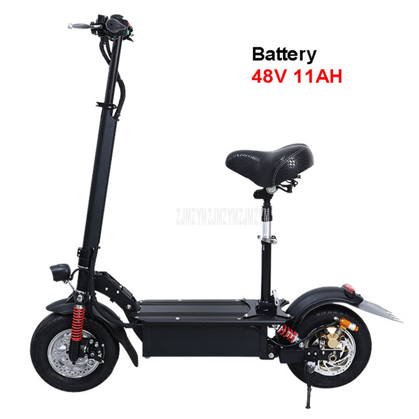 48 V 11AH 11 pouces roue pliable adulte Scooter électrique adulte Mini vélo électrique au lieu de marche vélo Ebike kilométrage 35 km