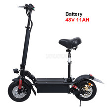 48V 11AH 11 inch Wheel Foldable Adult Electric Scooter Adult Mini Electric Bicycle Instead Of Walking Bike Ebike Mileage 35km