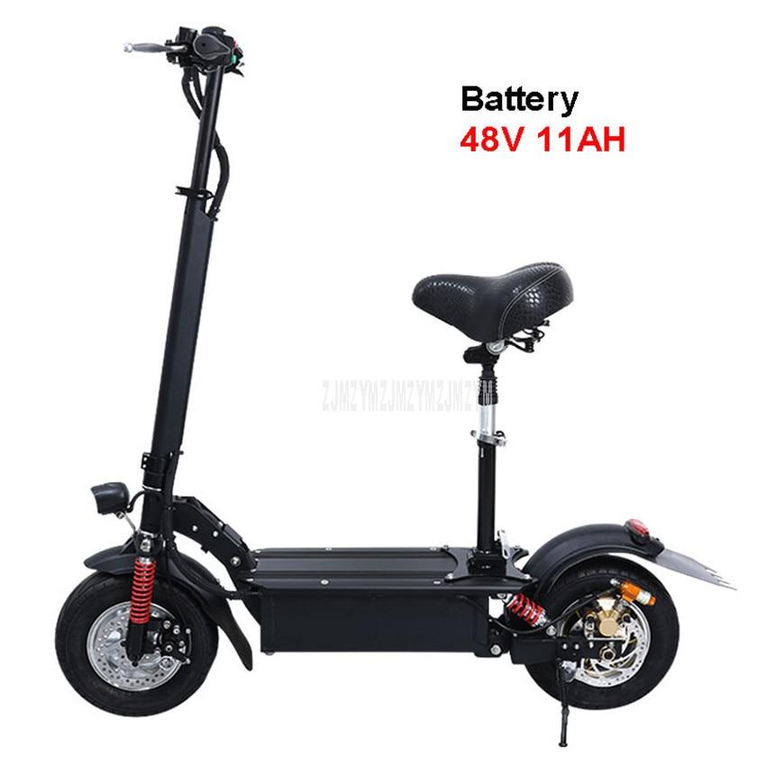 48V 11AH 11 pouces roue pliable adulte Scooter électrique adulte Mini vélo électrique au lieu de marche vélo Ebike kilométrage 35km