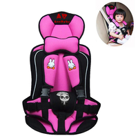 Boys and Girls Car Child Seat, Portable Infant Car Seat, Rabbit Pattern Booster car Seats, Cushion for Toddlers, Pink and Blue