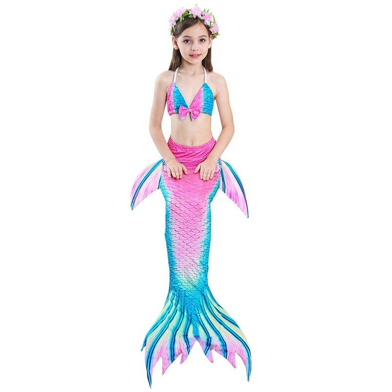 girls mermaid tail swimwear 3-3