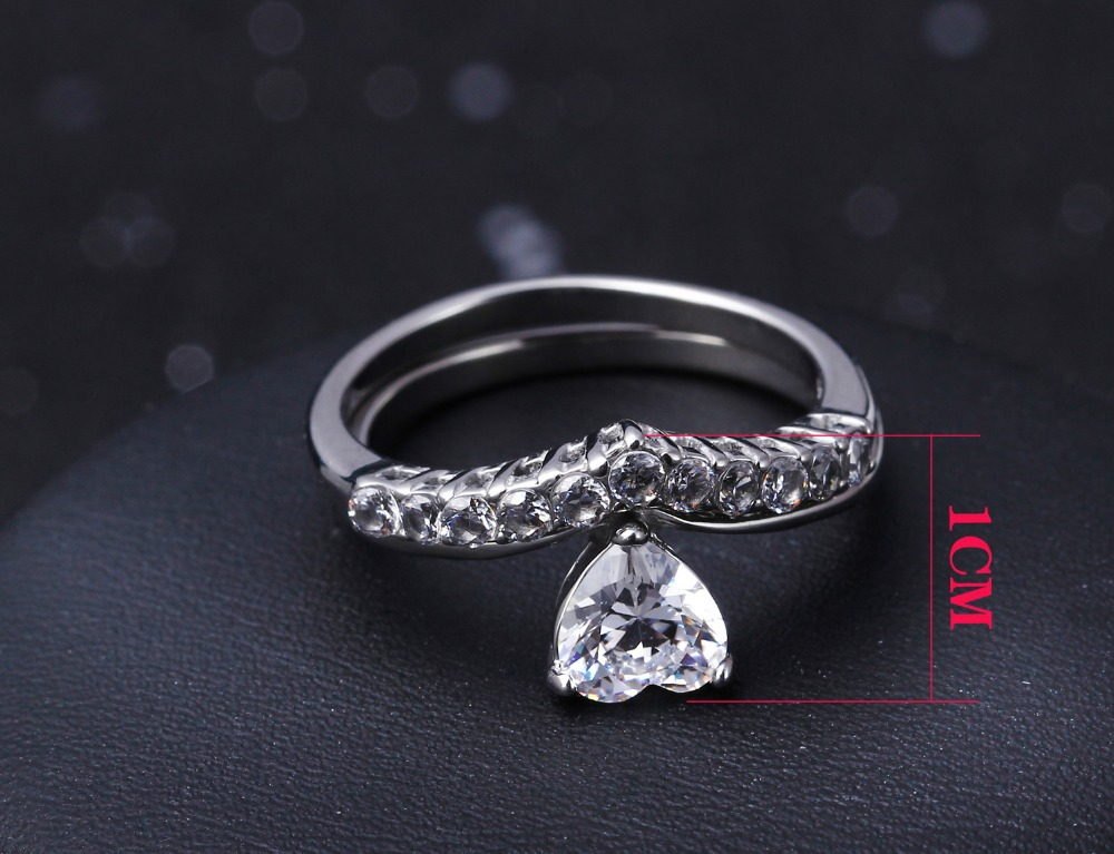 Stainless Steel Ring High Polishing plated w/ cz stone rings for women fashion jewelry free shipment Full size 5, 6, 7, 8, 9, 10