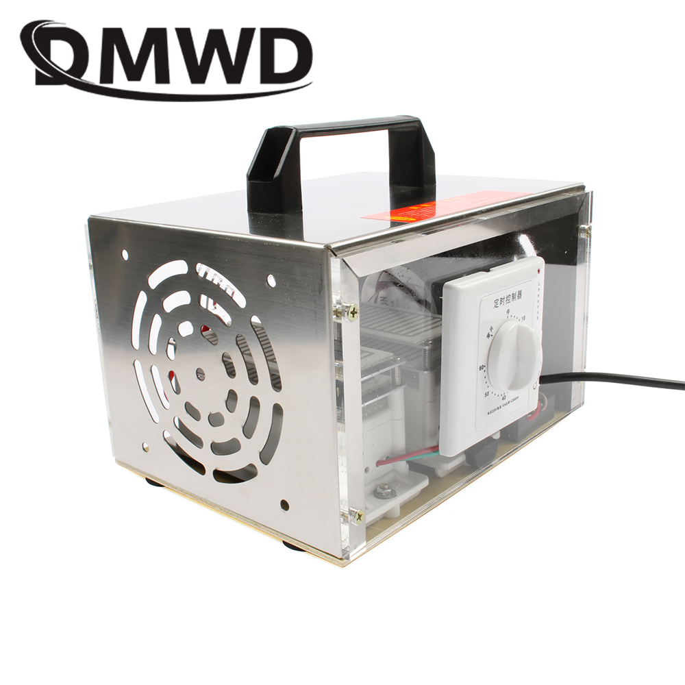DMWD 20g purificateur d'air générateur d'ozone plaque 20000 mg/h ozonateur Portable ozoniseur nettoyeur stérilisateur avec interrupteur de synchronisation 110V 220V