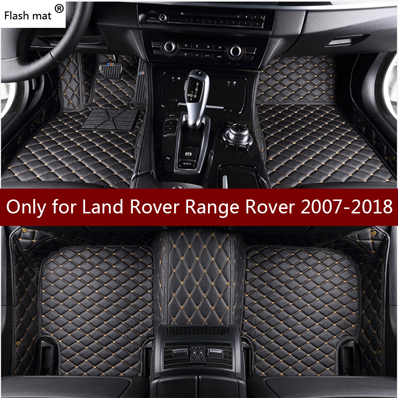 Flash mat leather car floor mats for Land Rover Range Rover 2007-2016 2017 2018 Custom foot Pads automobile carpet car coversFlash mat leather car floor mats for Land Rover Range Rover 2007-2016 2017 2018 Custom foot Pads automobile carpet car covers