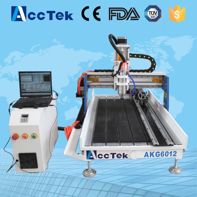 Acctek hot sale desktop mini cnc milling machine 6012/mini cnc engraving machine with price 6090 acctek mini cnc desktop engraving machine akg6090 square rails mach 3 system usb connection