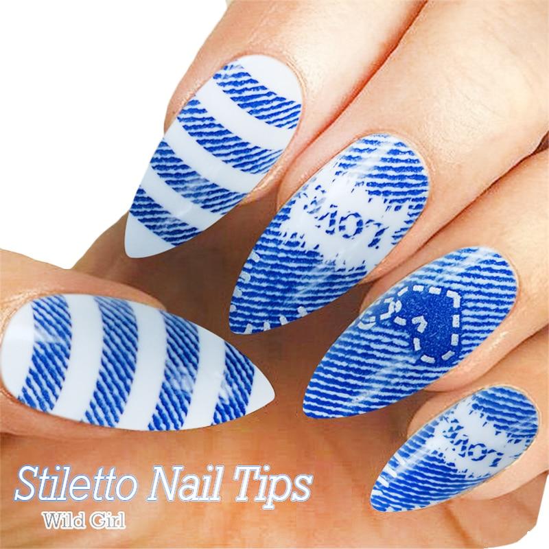 24 stks / pak Kunstnagels Volledige Cover Fake Nagels voor Nail Art - Nagel kunst - Foto 3