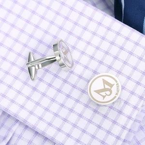 Image 3 - Gemelos de boda personalizados, redondos de plata, regalos de boda para novio, logotipo letras grabadas, palabras, joyas Gemelos