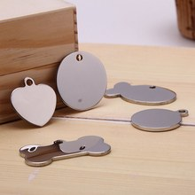 New 1Pcs Stainless Steel Metal Blank Stamping Dog Tags Charms Pendants Pet Card Identity Card(China)