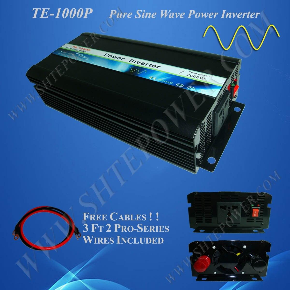 DC24V для AC100V инвертор с чистым синусом 1KW Солнечный автономный Мощность инвертор