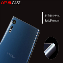 DEVILCASE 9H Transparent Back Protector For XPERIA XZ XC Anti-scratch Warrior Clear Shield Film 0.33mm Free Lens Protector Gift