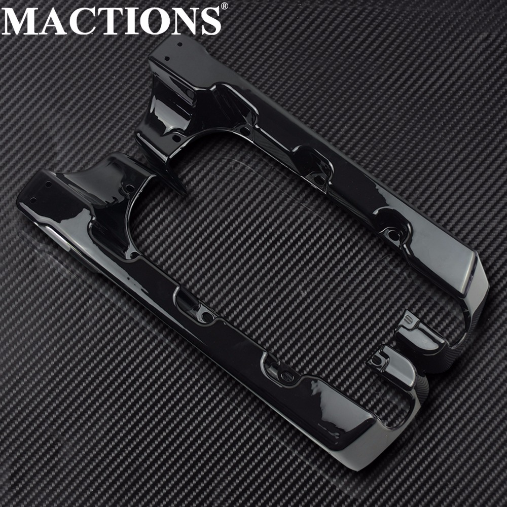 Motorcycle 4 Hard Stretched Saddle Bag Extensions Black For Harley Touring Electra Glide Road Glide King