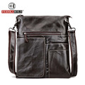 FEIDIKA BOLO Brand Vintage Messenger Bag Men Leather Men Messenger Bags Crossbody Shoulder Bag Genuine Leather Bags