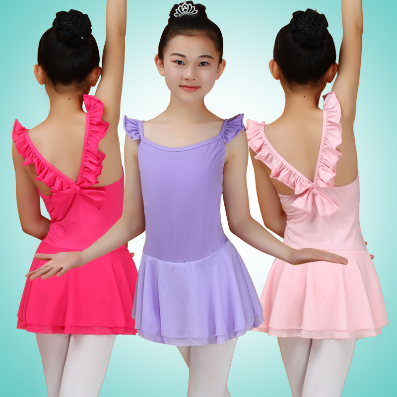 00f2441e989c Sleeveless Cotton Gymnastics Leotard For Girls Ballet Dress Dance ...