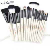 JAF Brand 15pcs Set High Quality Professional Makeup Brushes Set Facial Make Up Blush Powder Foundation
