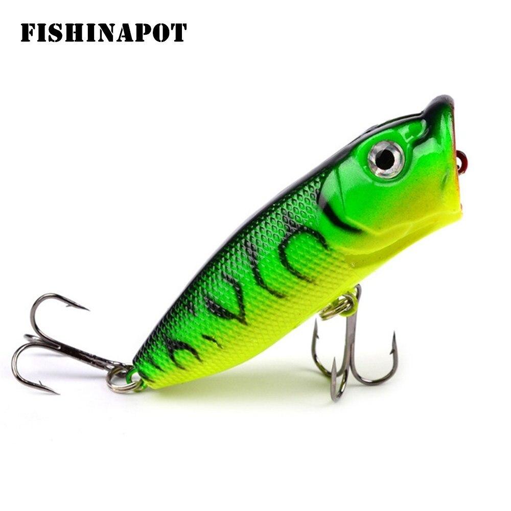 6Pcs 7cm//11g Popper Fihing Lure Crankbait Artificial Wobbler Fishing Tackle