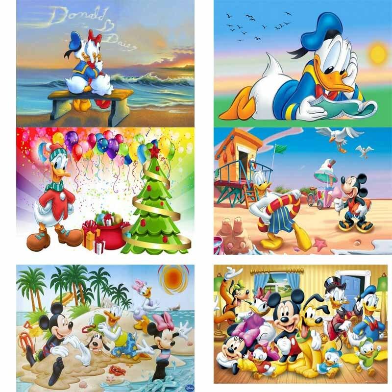5D Diamond Painting Abstract Donald Duck Kit