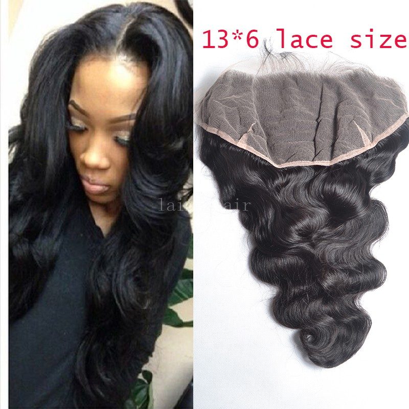 7A 13 6 inch body wave lace frontal bleached knots malaysian lace frontal closure with baby