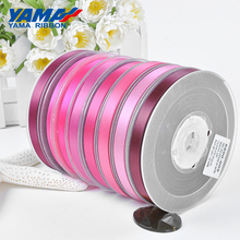 YAMA 6 9 13 16 19 22 mm 100yards Single Face Satin Ribbon Red for Party Wedding Decoration Handmade Rose Flowers Ribbons Gift