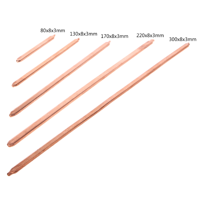 150mm/200mm/250mm/300mm Pure Copper Tube Tubing For Computer Laptop Cooling Notebook Heat Pipe Flat Or Round
