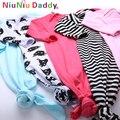 Новорожденный ребенок Спальный Мешок Флис детская Одежда стиль спальные мешки С Длинными рукавами Ползунки для 12-24 М