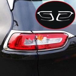 4 * Chrome ABS samochodów tylna lampa tylna pokrywa wykończenia ramki nadające się Jeep Cherokee 2014-2018