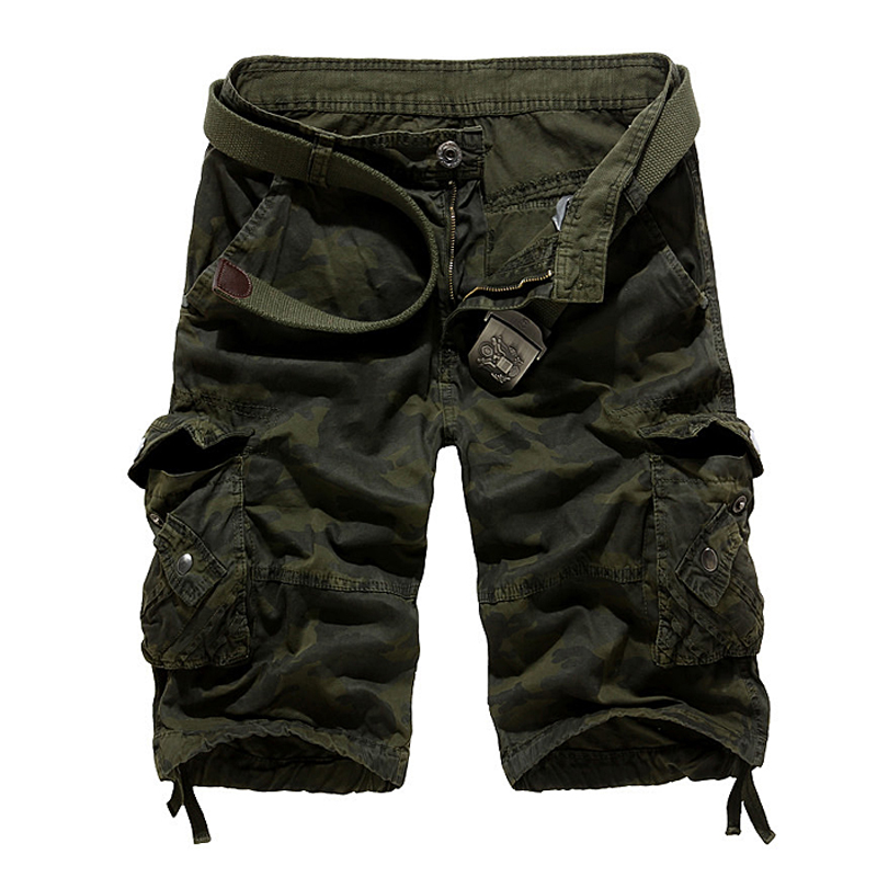 Camouflage Loose Cargo Shorts Men 2018 Summer Military Camo Short Pants Homme Cargo Shorts US size
