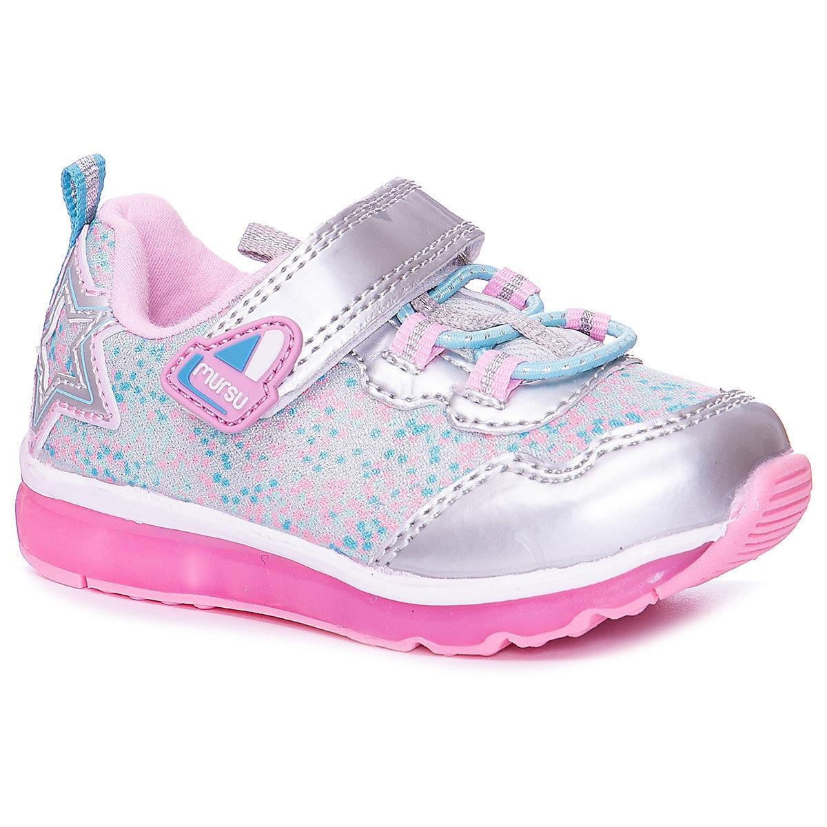 цена MURSU Kids\' Sneakers 10612147 10612157 children\'s sports running shoes Spring Autumn Girls Girl MTpromo онлайн в 2017 году