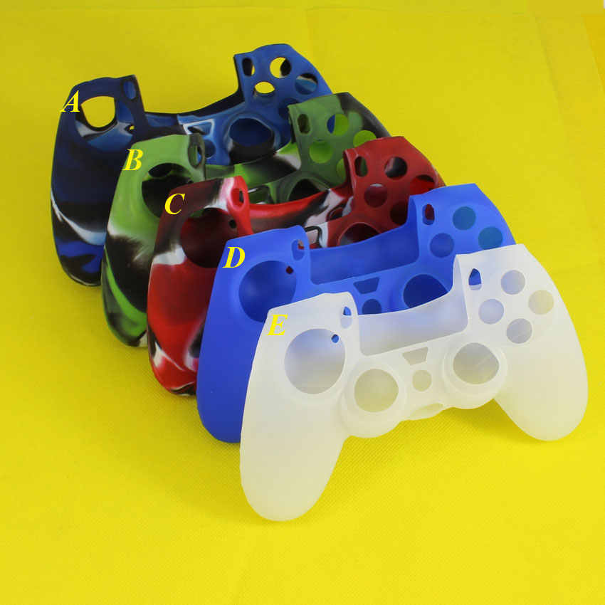 Cltgxdd Controller Grip Anti-SLIP ซิลิโคนผิวป้องกันสำหรับ Sony PlayStation DualShock 4 PS4 DS4 Pro slim