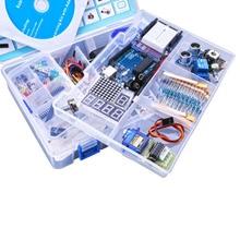 אולטימטיבי Starter Kit לarduino כולל קולי חיישן, UNO R3, LCD1602 מסך עם UNO ננו עם קופסא פלסטיק
