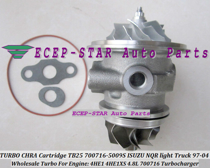 Turbo CHRA Cartridge GT25 700716 700716-0001 700716-0004 700716-0005 8971894520 For ISUZU NPR NQR NKR Truck 4HE1-TC 4HE1XS 4.8L