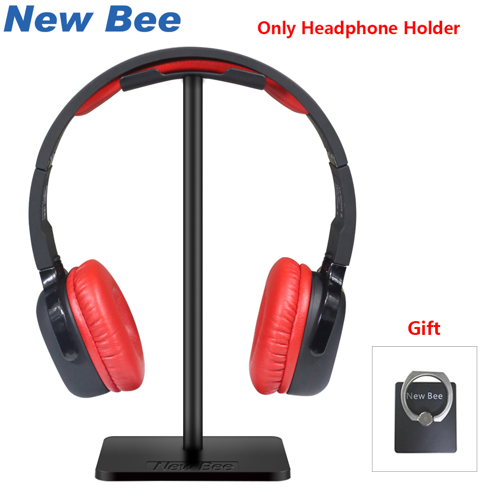 New Bee Headphone Stand Headset Hållare Fashion Display Metallic Hörlurar Hörlurar Hörlurar Hållare Desktop Hörlurar konsol