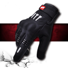 Touchscree Full Finger Perforated Gloves Motorbike outdoor Summer Winter motorcycle cycling gloves Off-Road ATV MTB Moto Gloves 2019 motorcycle gloves men women moto leather carbon cycling winter gloves motorbike motorcross atv motor new free shipping