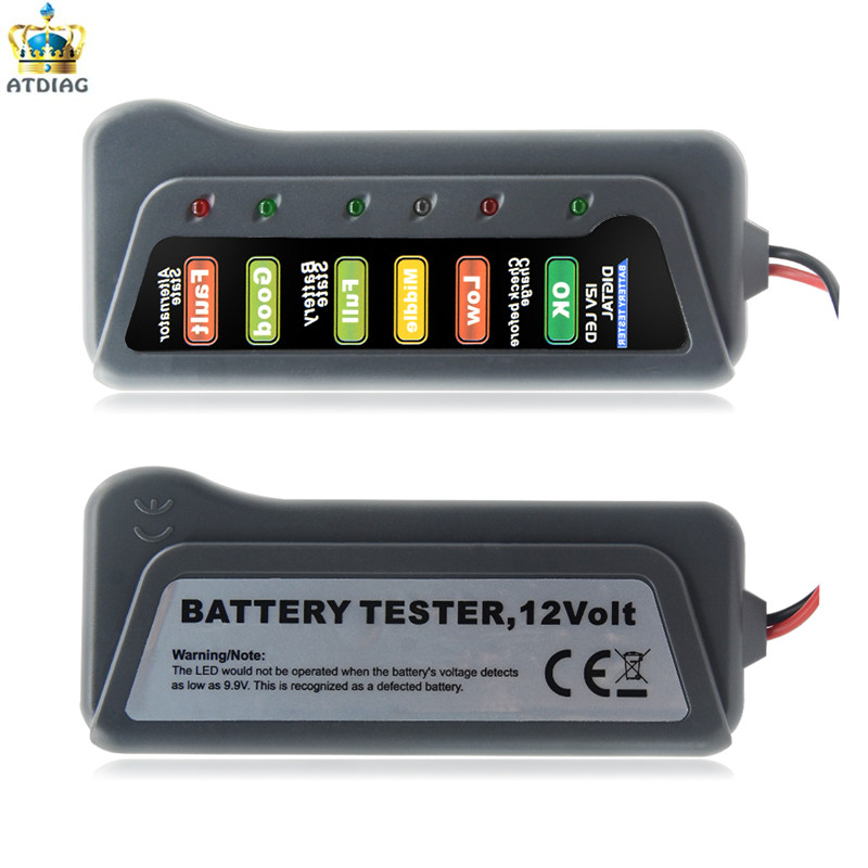 Car Battery Monitor With 3 Led