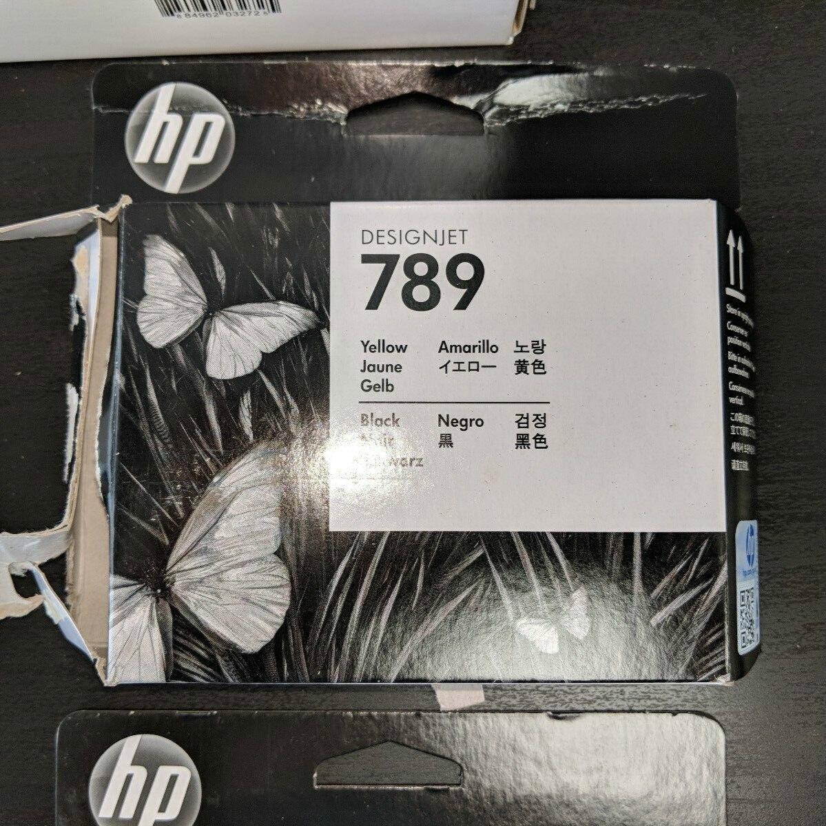 Originale ed Inutilizzato CH612A Nero e Giallo Testina di Stampa per HP Designjet 789 L25500 Serie, Designjet L26500