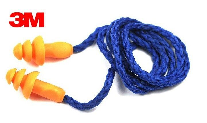 3M 1270 Earplugs Anti-noise Abatement Sleeping Ear Protector Swimming Anti-water Orange Christmas Tree Style C102104