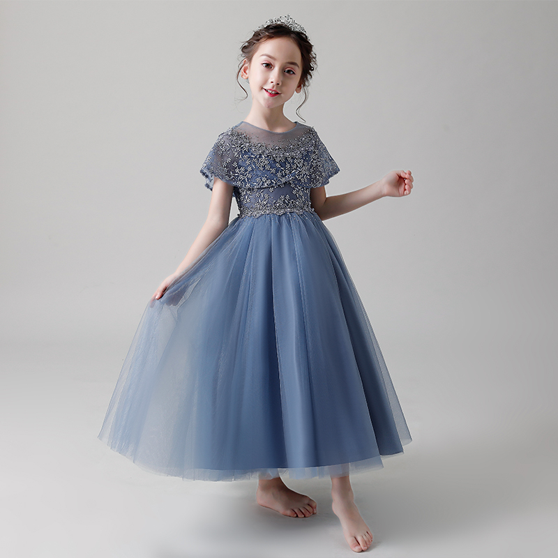 цены на Lovely Cape Sleeve First Holy Communion Dress Beading Kids Pageant Dess Birthday Gift Beading Flower Girl Dresses for Wedding в интернет-магазинах