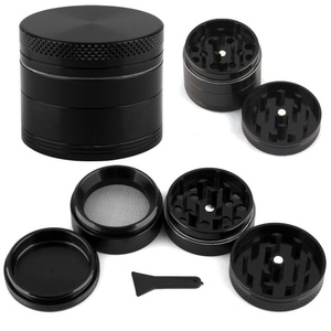 Mini Zinc Alloy Tobacco Weed Herb Grinder Smoke Accessories Smoke Grinders Portable 4 Parts(China)