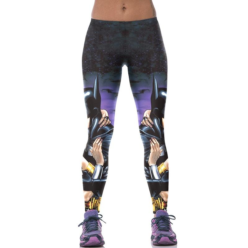 27777d402fb950 Detail Feedback Questions about New 522 Sexy Girl leggins galaxy Batman  Wonder Woman Comics Printed Polyester Elastic Fitness Workout Women  Leggings Pants ...