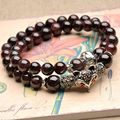 Natural Garnet Bracelet Crystal Wrap Steering-wheel Tibetan jewelry Cartoon Fox Pi Xiu Elephant Pendant Beads Wristband