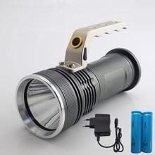 Big Size Waterproof XPE T6 Power Search Flashlight Rechargea